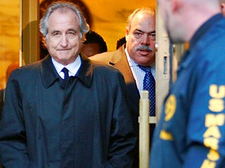 Bernie Madoff Leaving Courthouse